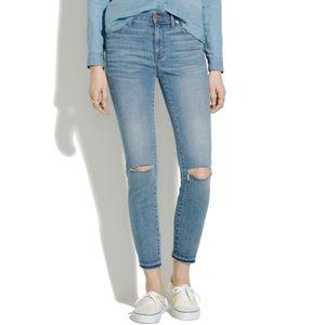 Madewell High Riser Skinny distressed Jeans SZ 26